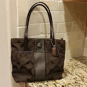 COACH Shimmery Brown Tote